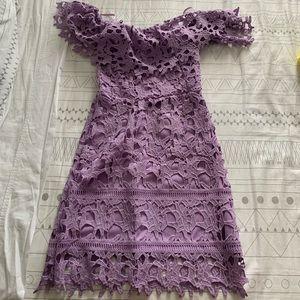 She and Sky Purple Dress